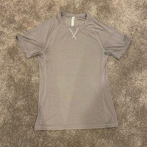 Lululemon Men's Gray/Silver Top Shirt